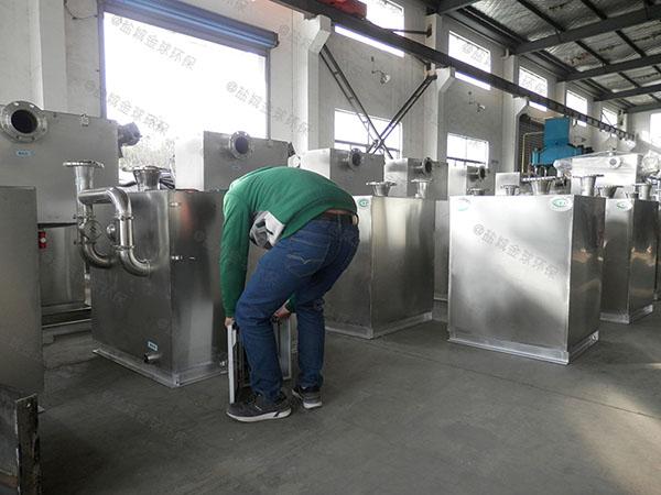 餐饮业大型埋地式全自动油水分离处理机器需要哪些设备