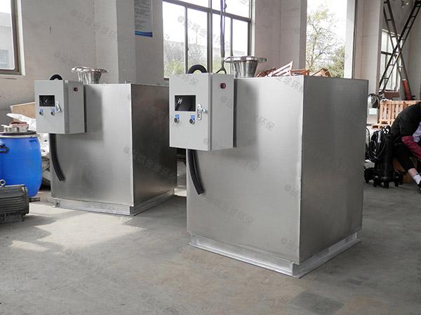 餐饮行业地面式大型自动排水除油污水处理设备视频
