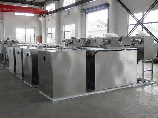 单位食堂室外分体式隔油污水提升装置安装图片
