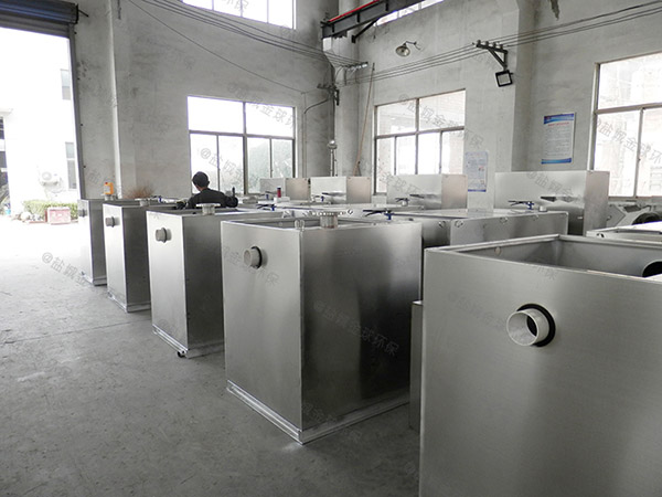 后厨大型地上式自动提升隔油除渣设备规格型号表