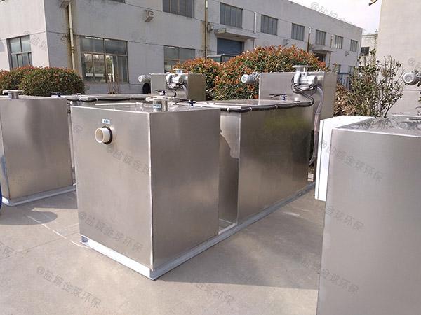 餐用地下式自动除渣水油分离装置设计