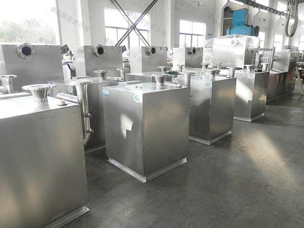 后厨大型地上式自动排水一体式隔油设备排放标准