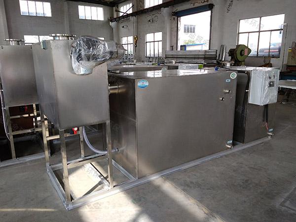 餐饮行业大分体式一体化油水分离设备的做法