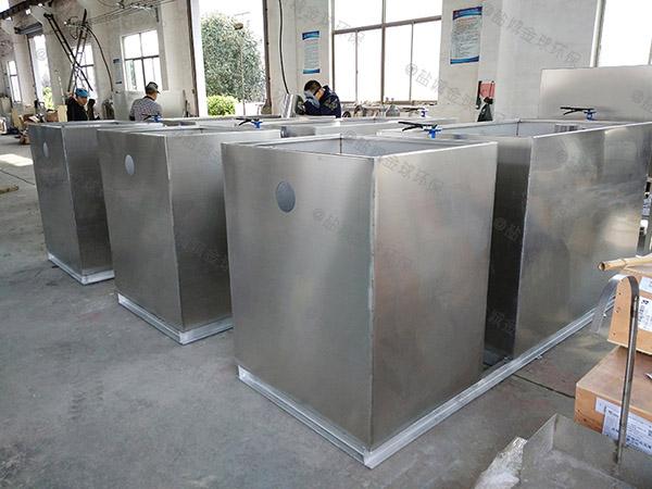 单位食堂中小型全自动智能型隔油池成品的维护