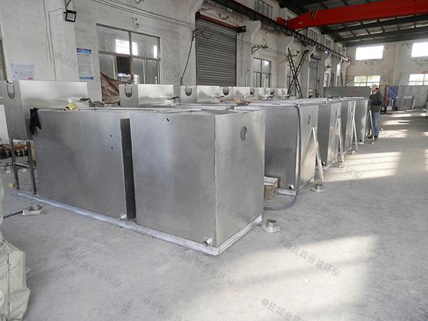 餐饮类地面式大简易隔油一体化提升设备处理能力