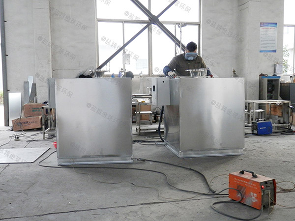 火锅地上式大型简易隔油池成品内部结构图