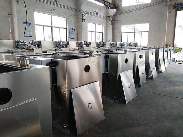 厨房用地面式大型全自动油水渣分离机安装方案
