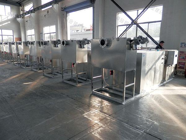 工厂食堂中小型地上组合式油水分离机设备计算