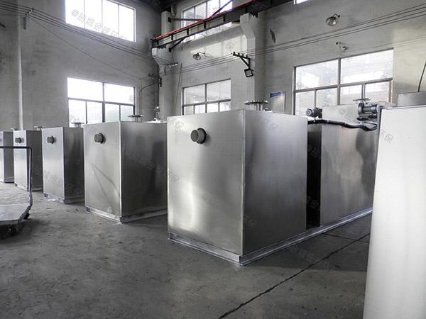 居民用地上式移动成品不锈钢隔油池的效率