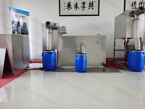 商场餐饮大地下半自动油水分离过滤器停留时间