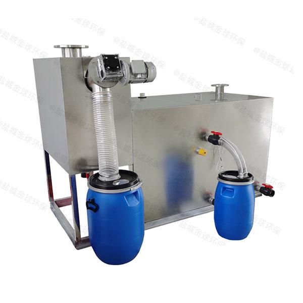餐厅地上简单油水分离处理机器工作原理图