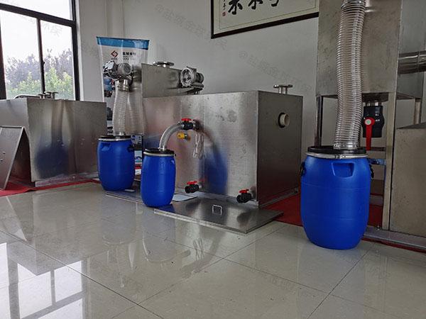 住宅楼地上自动刮油不锈钢隔油池正确安装