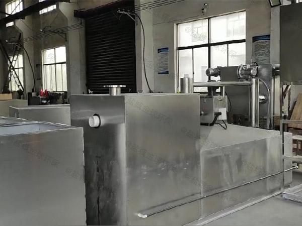 商场餐饮大型地下式自动化成套隔油池设备类型