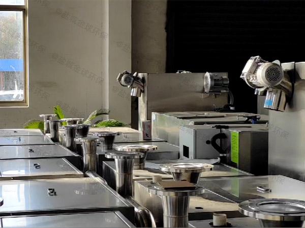 餐饮业大型地面式智能化油水分离过滤器工艺特点