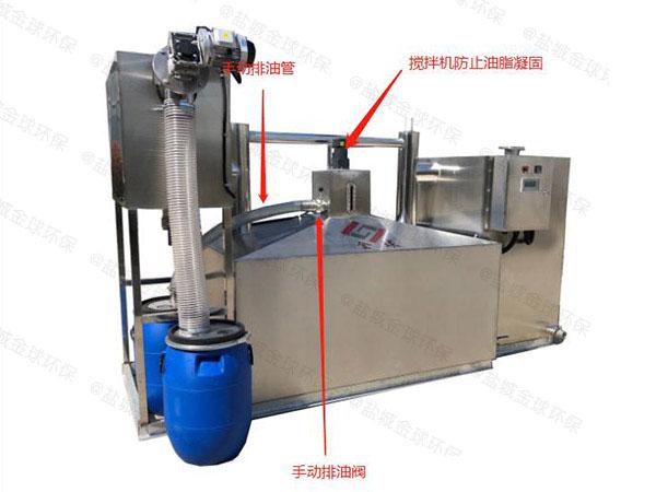 厨房地下室中小型自动提升油水分离处理机器的价格是多少钱一个