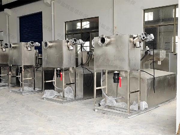 餐饮业大型全能型隔油除渣一体化设备是成套的还是拼装的