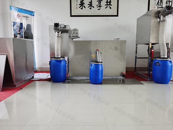 厨用大地面式无动力除味隔油池操作说明