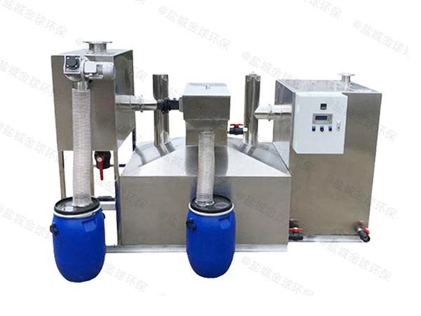 餐饮商户大型室外组合式油水处理设备工作原理图