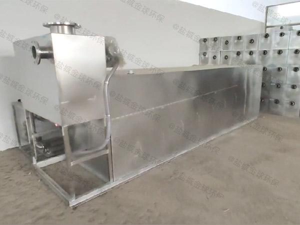 工地食堂大型室内分体式一体化隔油池合格证