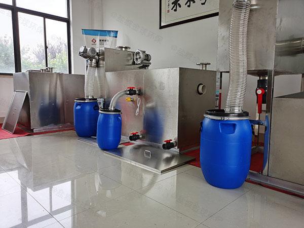 厨下型地下式自动提升隔油除渣一体化设备型号选择