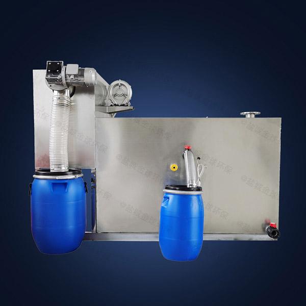 工厂食堂地埋式大自动除渣隔油除渣一体化设备怎么安装图