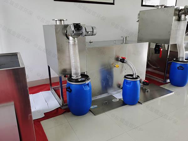火锅地面式中小型简易隔油净化设备如果安装
