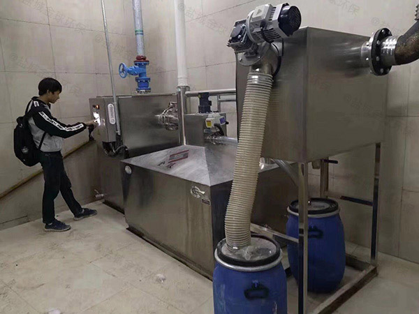 工厂食堂中小型地下式全自动隔油隔渣设备怎么装