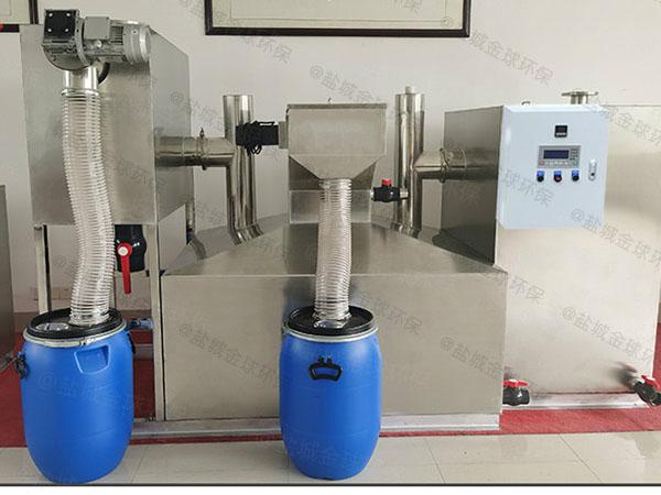 后厨中小型自动油污水分离器工艺流程