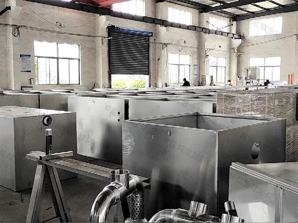 单位食堂室内简单隔油提升一体化设备工艺流程