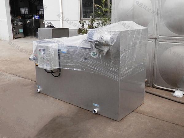 3.1米*1.2米*1.85米餐厨垃圾自动排水不锈钢隔油池图集