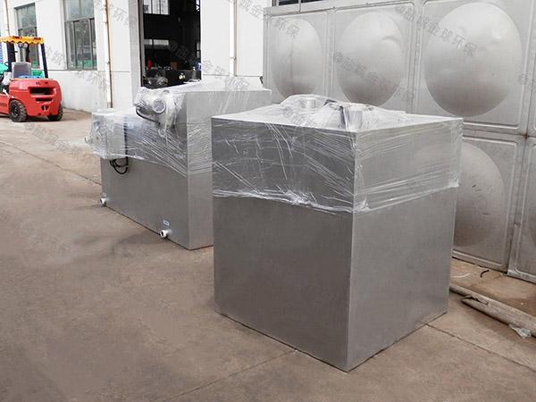 8吨的长宽高厨房智能化油水分离处理设备的做法