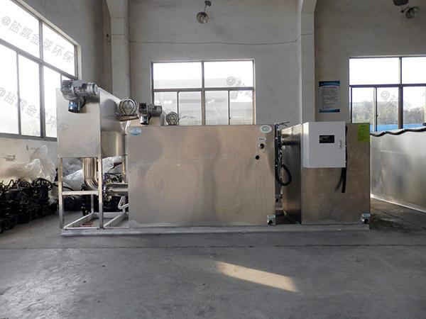 3.5米*1.35米*1.85米厨房自动化成品隔油池技术