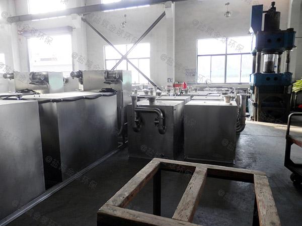 3.1米*1.2米*1.85米餐厨自动刮油隔油池成品参数