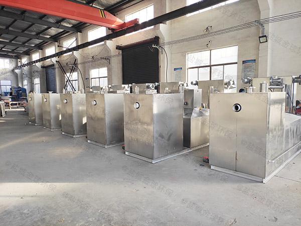 食堂用地上式半自动一体化隔油设备直销