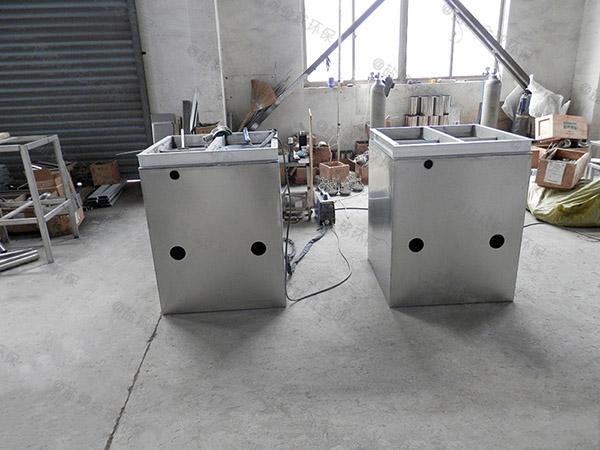 100人厨房自动排水油水处理器处理效率